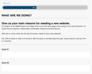 Native Theory website project form - screenshot 01